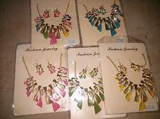 Boutique Statement Jewelry Lot - 5 color twist necklaces