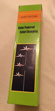 Solar Powered Color Changing Garden Yard Stake Lily Flower (New damaged box)