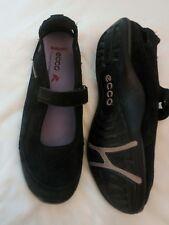Ballerina für den Sommer mit Klett von ECCO Gr. 42 schwarz Lagenlook super