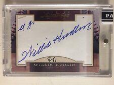 2011 Donruss Limited Cuts: Willis Hudlin Cut Auto #5/11
