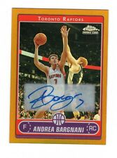 2006-07 Topps Chrome Gold Refractor Andrea Bargnani RC Rookie Auto 23/25 RARE