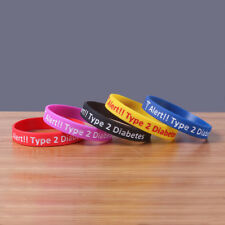 Silicone Bracelet Type 2 Diabetes Medical Alert Wristband Insulin Medical Band