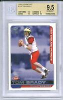 TOM BRADY 2000 Pacific Paramount Rookie Card RC #138 BGS 9.5 Gem Mint Patriots