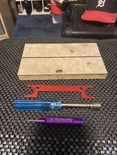 1/24 Slot Car Tech Block,Tire Wrench,Tire Gauge,Nut Driver