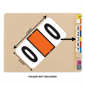 Bar Tab Labels 500 Color Coded Bar-Style Labels For File Folder End Tabs-Numbers