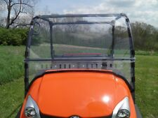 Kubota RTV400/500 2 Pc Vented Lexan Windshield w/Loop Clamps-SHIPS FREE