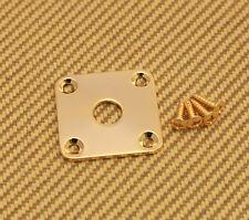 FSJP-G  Flat Square Metal Jack Plate For Guitar /Bass w/Screws - Gold
