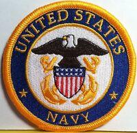 United States NAVY  Iron On Patch Shoulder  Emblem