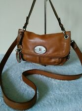Fossil Vintage Ladies Leather Brown Small Grab Shoulder Cross Body Hand Bag # 49