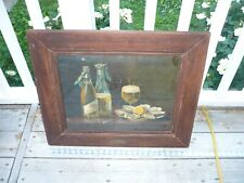 Original c1900 Pre-Pro Pabst Blue Ribbon Print Oysters & Beer brass label free