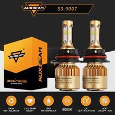 AUXBEAM 9007 LED Headlight Kit 72W 8000LM Hi-Lo Beam Fog Light Bulbs 6000K White