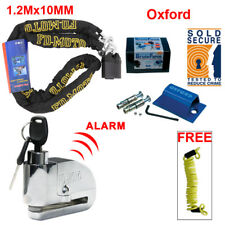 FD-MOTO 1.2m Motorcycle Chain Pad Lock Disc Alarm Motorbike Oxford Ground Anchor