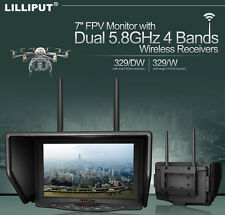 "Lilliput 329/W 7"" 5.8G FPV RC Monitor 800×480 for Drone Wireless Camera SY"