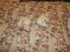 96x99 Queen/King 7pc Croscill Floral Rose Flowers Comforter Shams Pillows Set
