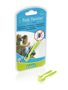 Tick Twister by O'tom - The original -  2 packs of 2 hooks - Tick remover