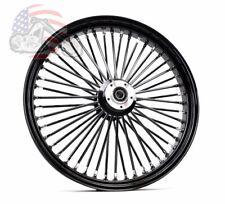 Ultima 48 King Spoke Fat 23X3.5 Front Wheel Rim Harley Black Out Single Disc 08+