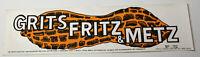 1970s Vintage Grits Fritz Metz Carter Political Americana Decal Bumper Sticker
