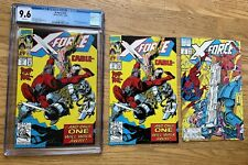 Lot of 3: X-Force # 15, 10/1992, CGC 9.6, White Pages, X-Force #15, X-Force #4