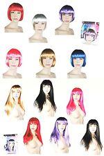 Ladies Straight Wigs Costume Party Hair Long Short Bob Blonde Brunette Colours