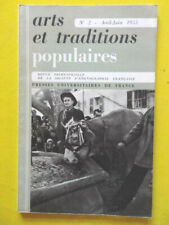 Arts et Traditions Populaires 2 1955 mobilier de Bresse bateaux en bouteilles