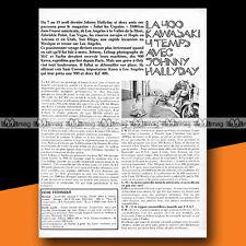★ La KAWASAKI KZ 400 et JOHNNY HALLYDAY ★ 1974 Article de Presse Moto #b333