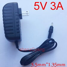 AC supply DC 5V 3A Switching Power Adapter 3000mA 15W US plug DC 3.5mm x 1.35mm