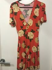 ASOS Red Floral Tea Dress Size8