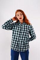 Vintage Quiksilver Checked Shirt Blue (L)