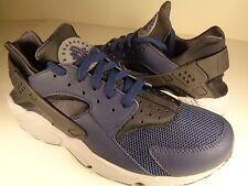 Nike Air Huarache Midnight Navy Dark Ash Cool Grey Black SZ 10 (318429-409)