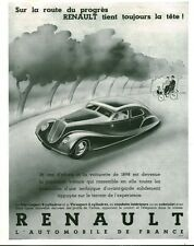 Publicité ancienne automobile Renault Nervasport 8 Cylindres 1934 issue magazine