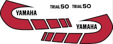 Yamaha TY50 Graphics stickers decals transfers TY 50 Trials bike red & black