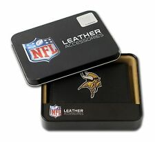 Minnesota Vikings NFL Embroidered Leather Tri-fold Wallet Rico Industries 245162