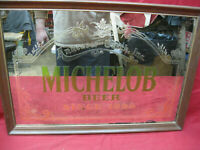 "Vintage Anheuser-Busch ""Michelob Beer Since 1896"" Framed Bar Mirror Sign #2"