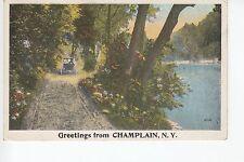 Horse Cart Greetings from Champlain Ny 602