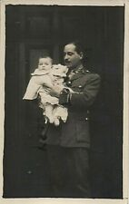 WW1 Officer Royal Fusiliers with baby son or daughter