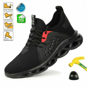 Mens Non-Slip Steel Toe Safety Labor Shoes Work Boots Indestructible Sneakers