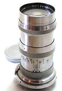 Carl Zeiss Jena 13.5cm 135mm f/4 Sonnar lens, Leica LTM screw EXC