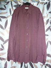 weinrotes, festliches Hemd, Gr. XL, leicht glänzend,