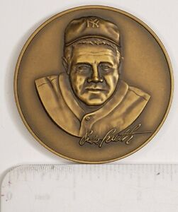 1974 MEDALLIC ART BABE RUTH BRONZE TRIBUTE COIN 2 1/2 ""