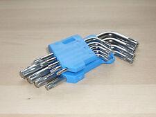 Torx Schraubenschlüssel T-Profil E-Profil Winkel Schlüssel mit Loch 9 Tlg