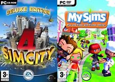 sim city  4 deluxe & my sims  NEW&SEALED