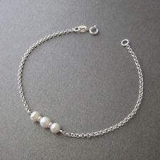 Bracelet perles de culture d'eau douce et argent massif 925 BR104
