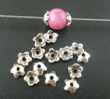 2000 x Antique Silver Flower Bead Caps ~ Fits 5-6mm beads *CLEARANCE JOBLOT*