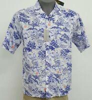 Cremieux Signature 3 White Scenic S/S Men's Camp Shirt NWT $79.50 Choose Size