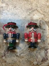 Two Vintage Nut Cracker Wooden Ornaments Excellent, Used Condition