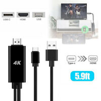 Type-C USB-C To HDMI 4K HDTV Cable Adapter For Samsung Galaxy S9 S8 Plus Note8ST