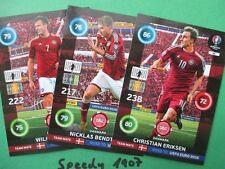 Road to UEFA Euro 2016 Team Dänemark 6 Base Cards Eriksen Danmark  Adrenalyn