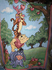 Pooh 100 Acre Collection Pooh Tigger Piglet Eeyore Afghan Throw Blanket