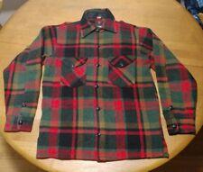 Johnson Woolen Mills Vtg Wool Plaid Hunting Jacket Men's 44 Red