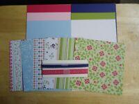 Stampin Up CHEERFUL TREAT 6 x 6 Designer Paper Card Kit Ribbon RARE